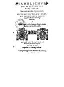 De mysteriis Aegyptiorum , nunc primum ad verbum de graeco expressus, Nicolao Scutellio,... interprete. Adjecti de Vita et secta Pythagorae flosculi, ab eodem Scutellio ex ipso Jamblicho collecti. [Omnia studio S. Bongalli...