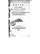 Zélia : drame en 3 actes, mêlé de musique / [d'après Goethe] ; paroles de Dubuisson ; musique de Deshaye