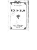 Des couples / Maurice Leblanc