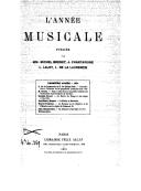 L'Année musicale / publiée par MM. Michel Brenet, J. Chantavoine, L. Laloy, L. de la Laurencie