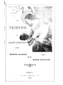 La Tribune de Saint-Gervais : bulletin mensuel de la Schola cantorum / directeur Charles Bordes