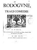 Rodogune , tragi-comédie
