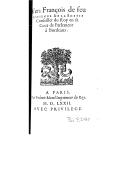 Vers françois de feu Estienne de La Boëtie ,... [Publiés par Montaigne]