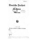 Deutsche Freiheit : ein Weikruf / von Rudolf Eucken