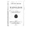 L'éducation militaire de Napoléon / par J. Colin,...