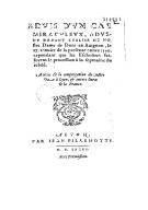 Advis d'un cas miraculeux, advenu devant l'église de Nostre Dame de dons en Avignon, le 17 janvier de la presente annee 1590