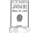 Joie dans le ciel (13e éd.) / C. F. Ramuz