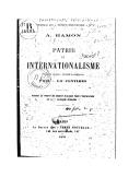 Patrie et internationalisme / A. Hamon