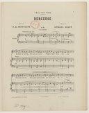 Berceuse ! Poésie de A. de Châtillon, musique de Georges Marty