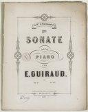 1re Sonate pour piano, par E. Guiraud, op. 1er