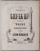 Guz-la-hi ! (Talisman indien) Valse pour harmonicorde ou piano par Léon Roques, op. 39