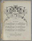 Six mélodies / Georges Marty. Poésies de M. M. Victor Hugo, André Theuriet, A. de Chatillon, E. Guinand et A. Cajoon...