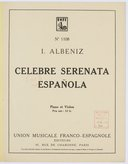 Celebre serenata española, pour piano et violon. (Op. 181)