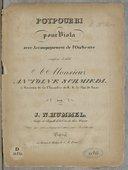Pot-pourri pour viola avec accompagnement de l'orchestre, composé... par J. N. Hummel, .... Oeuvre 94
