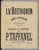 Thème et variations du septuor, op. 20, transcrits pour piano et flûte par Taffanel, d'après Berthemet (A)