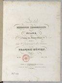 Dix-huit exercices progressifs pour le piano, op. 80