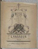 Messe à trois voix, pour soprano, ténor et basse, avec accomp.t d'orgue par L. Vasseur