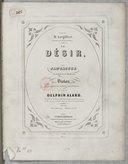 Le Désir. Fantaisie sur un thème de Beethoven, pour violon avec accompagnement de piano ou d'orchestre par Delphin Alard.... Op. 30