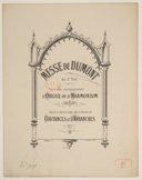 Messe du 1er ton avec accompagnement d'orgue ou d'harmonium