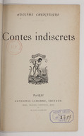 Contes indiscrets / Adolphe Chenevière