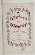 Le carnaval du dictionnaire (2e éd.) / par Pierre Véron ; 24 dessins par Hadol