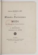 Les minutes parisiennes ; 1. Midi : le déjeuner des petites ouvrières / par G. Montorgueil ; illustrations de A. Lepère