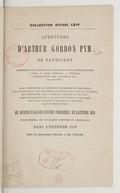 Aventures d'Arthur Gordon Pym par Edgar Poë, traduction de Charles Baudelaire, nouvelle édition