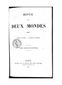 Revue des deux mondes : recueil de la politique, de l'administration et des moeurs
