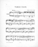 Stephanie-Gavotte : für das Pianoforte : op. 312 (4te Aufl.) / componirt von Alphons Czibulka,...