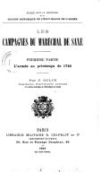 Les campagnes du maréchal de Saxe. L'armée au printemps 1744 / par J. Colin,...