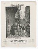 Réveil-matin : polka pour le piano [à quatre mains] / par Gustave Dauvin ; [ill. par] G. Fraipont ; d'après A. Moreau