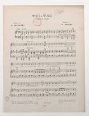 Tic-tac, chanson valse. Paroles de G. Delatrey. Musique de V. Monti