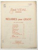 Décembre à Paris. Sonnet de Maurice Faure. Musique de Paul Vidal