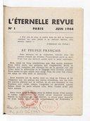 L'Éternelle revue / [fondateur Paul Eluard]