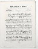 Concerto en la mineur, op. 85 : 1er solo : piano / J. N. Hummel ; revu et doigté par E. Decombes ; [orn. par Barbizet]