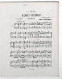 6 transcriptions classiques pour le piano. 1, Menuet-sérénade de Beethoven : extrait du [1er] Trio en ré majeur / transcription pour piano par Emile Decombes