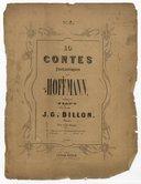 10 contes fantastiques de Hoffmann / traduits pour piano par J. G. Dillon. N° 2