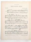 3 pièces pour piano. , Trois petits pâtés : minuetto : piano / Auguste Delacroix