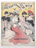 Les chevaux de bois : valse pour piano / Auguste Delacroix ; [ill. par] Léonce Burret