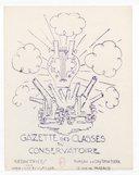 Gazette des classes de composition / Comité franco-américain ; rédactrices Nadia et Lili Boulanger ; croquis de Jacques Debat-Ponsan