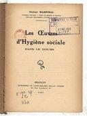 Oeuvres d'hygiène sociale dans le Doubs