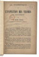 La Statistique et l'inspection des viandes de boucherie, par M. Baillet,...