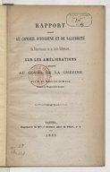 Rapport adressé au Conseil d'hygiène et de salubrité du département de la Loire-Inférieure, sur les améliorations à apporter au cours de la Chézine, par M. de Rostaing de Rivas,...