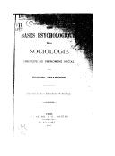 Les bases psychologiques de la sociologie : (principe du phénomène social) / par Edouard Abramowski