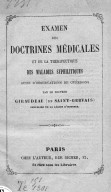 Examen des doctrines médicales et de la thérapeutique des maladies syphilitiques... par le Dr Giraudeau de Saint-Gervais,...