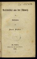 Reisebilder aus der Schweiz in Gedichten / von Adolf Stöber