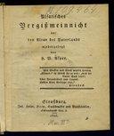 Alsatisches Vergissmeinnicht auf den Altar des Vaterlands niedergelegt von H. W. Asper = [Lang]. [Mit Beitraegen von August Stœber u. Adolf Stœber.]