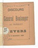 Discours du Général Boulanger au banquet de Nevers, le 2 décembre 1888