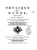 Physique du monde. 1 / ,... par M. le baron de Marivetz et par M. Goussier...