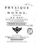 Physique du monde. 2 / ,... par M. le baron de Marivetz et par M. Goussier...